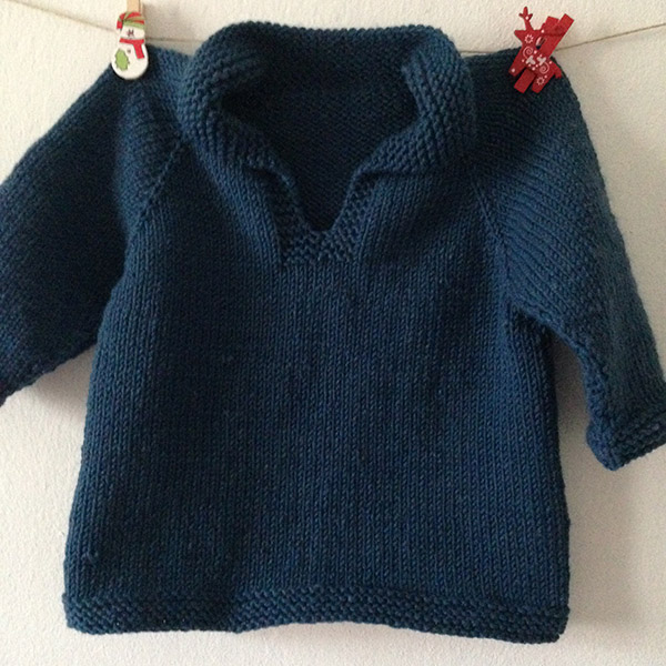 golfino in lana blu per bambino